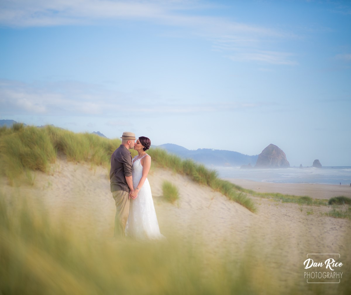 Oregon Beach Wedding by Dan Rice Photography