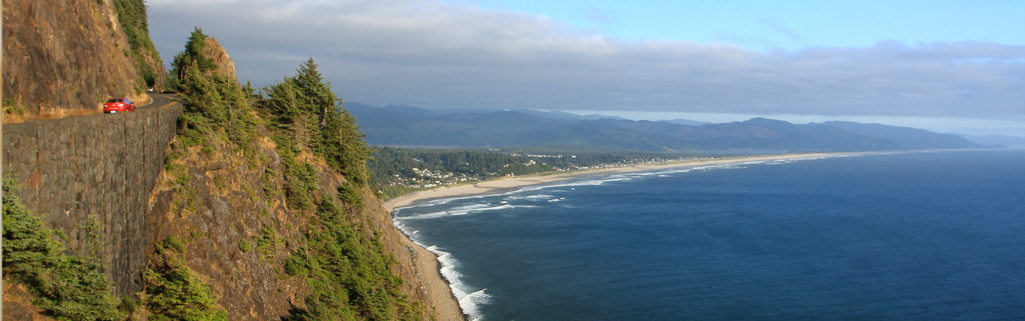 Manzanita, Oregon Coast Highway Aerial View