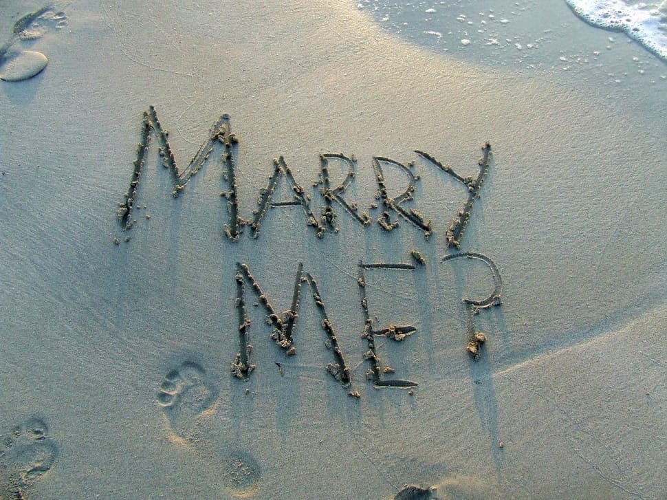 Marry Me Message in the Sand
